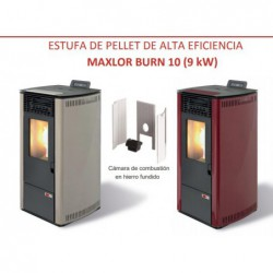 ESTUFA PELLET MAXLOR MOD.10 FUNDICION BURDEOS