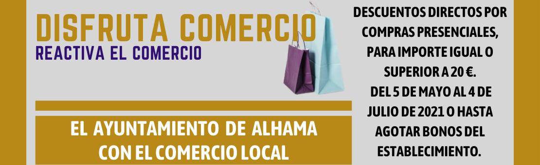 Programa de impulso al comercio local del Ayuntamiento de Alhama de Murcia